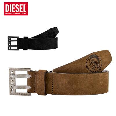 [全品最大15%OFFクーポン]ディーゼル Diesel レザー ベルト メンズ BIT 牛革 X03714 PR047 ブラウン ブラック Belt ヴィンテージ加工 男性 レザーベルト [glv15]