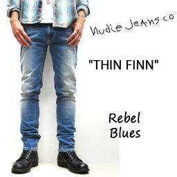 ヌーディージーンズ NUDIE JEANS ( ヌーディージーンズ )THIN FINN [ REBEL BLUES ] (804) / シンフィン [ レベルブルー ] 46161-1176 SKU#112696 nudie jeans THINFINN ヌーディージーンズ メンズ