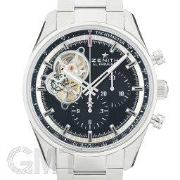 ゼニス クロノマスター 腕時計(メンズ) ゼニス エルプリメロ クロノマスター オープン ブラック 03.2040.4061/21.M2040 ZENITH 新品メンズ 腕時計 送料無料