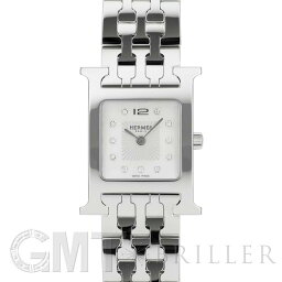 セリエ エルメス Hウォッチ HH1.210.290/4804 ホワイトMOP SSブレス 11Pダイヤ HERMES 新品レディース 腕時計 送料無料