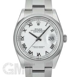 オイスター 腕時計(メンズ) ロレックス デイトジャスト 36 126200 ホワイトローマ オイスターブレス ROLEX 新品メンズ 腕時計 送料無料