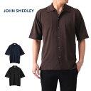 ジョンスメドレー JOHN SMEDLEY ジョンスメドレー 日本別注 オープンカラー ニットシャツ S4300 半袖シャツ (メンズ)