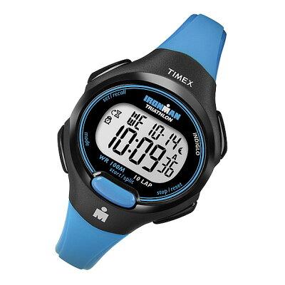 TIMEX (タイメックス) T5K5269J IRONMAN 10-LAP MIDSIZE/アイアンマン 10ラップ ミッドサイズ ラバーベルト スカイブルー×ブラック 輸入品 レディースウォッチ 腕時計【あす楽対応】