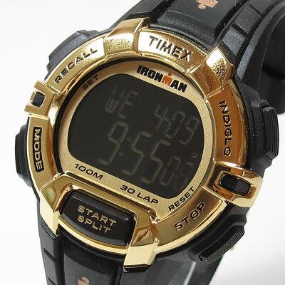 TIMEX (タイメックス) TW5M06300 IRONMAN 30-LAP/アイアンマン 30ラップ ラギッド デジタル ラバーベルト ブラック×ゴールド メンズウォッチ 腕時計【あす楽対応】