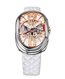 グリモルディ 腕時計(メンズ) グリモルディ G.T.O. SSSHWH612PK 腕時計 メンズ GRIMOLDI Gran Tipo Ovale 自動巻 レザーストラップ ホワイト系