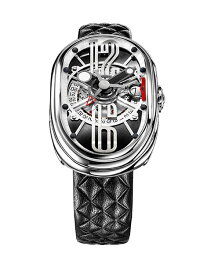 グリモルディ 腕時計(メンズ) グリモルディ G.T.O. SSSHBK612ST 腕時計 メンズ GRIMOLDI Gran Tipo Ovale 自動巻 レザーストラップ