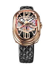 グリモルディ 腕時計(メンズ) グリモルディ G.T.O. RGSHBK612PK 腕時計 メンズ GRIMOLDI Gran Tipo Ovale 自動巻 ゴールド レザーストラップ