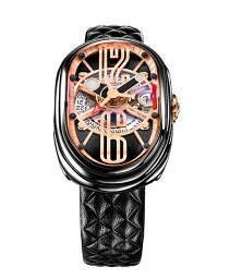 グリモルディ 腕時計(メンズ) グリモルディ G.T.O. BKSHBK612PK 腕時計 メンズ GRIMOLDI Gran Tipo Ovale 自動巻 レザーストラップ