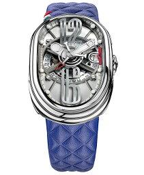 グリモルディ 腕時計(メンズ) グリモルディ G.T.O. フジ SSSHICE612SL-BL 腕時計 メンズ GRIMOLDI Gran Tipo Ovale Fuji ブルー系