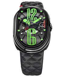 グリモルディ 腕時計(メンズ) グリモルディ G.T.O. ミント BKSHBK612GR-BK 腕時計 メンズ GRIMOLDI Gran Tipo Ovale Mint