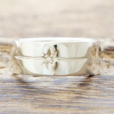 【あす楽】ampjapan(アンプジャパン)平打ち リング 指輪 シルバー925 ダイヤモンド メンズHYJK-210【送料無料】