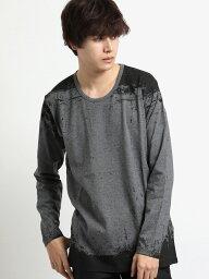 シェラック 【メンズ】シェラック/SHELLAC 総柄グラフィック クルーネック長袖Tシャツ Tシャツ/カットソー