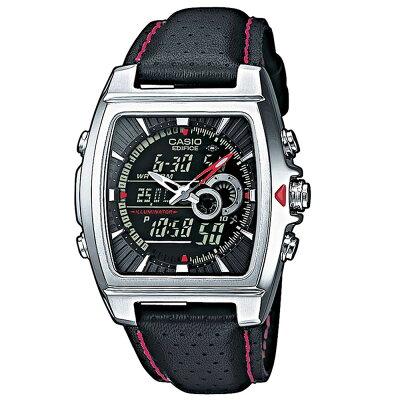 送料込! カシオ 腕時計 エディフィス CASIO EDIFICE EFA-120L-1A1VEF アナデジ 多機能 ブラック(レッド・シルバー)新生活応援 [10気圧防水][メンズ腕時計][メンズウォッチ][クォーツ][逆輸入]