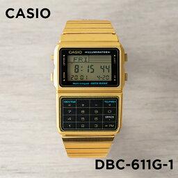 データバンク 【10年保証】CASIO カシオ データバンク DBC-611G-1 腕時計 メンズ レディース キッズ 子供 男の子 女の子 デジタル ゴールド 金 ブラック 黒