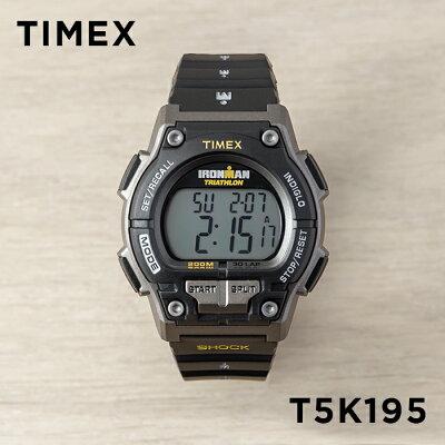 TIMEX タイメックス アイアンマン オリジナル 30 ショック メンズ T5K195 腕時計 ランニングウォッチ デジタル ブラック 黒 グレー