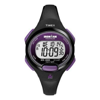 TIMEX タイメックス アイアンマン エッセンシャル 10 レディース T5K523 腕時計 ランニングウォッチ デジタル ブラック 黒 パープル 紫