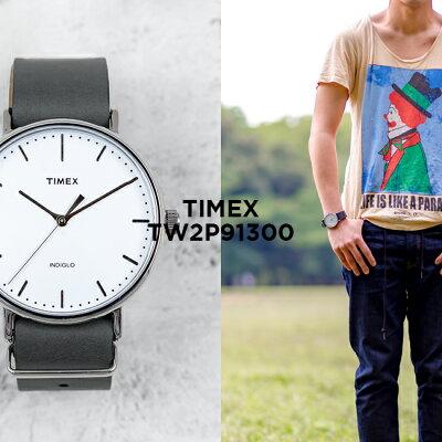 TIMEX FAIRFIELD 41MM MENS タイメックス フェアフィールド 41MM メンズ TW2P91300 腕時計 レディース アナログ グレー ホワイト 白 レザー 革ベルト