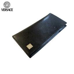 ヴェルサーチ 長財布(メンズ) ヴェルサーチ Versace グッズ 財布 長財布 ウォレット レザー セット ブラック P31017 VGRD 41N UNICA (R37800) 【送料無料】【smtb-TK】