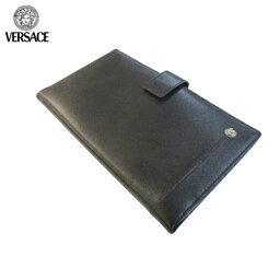 ヴェルサーチ ヴェルサーチ Versace メンズ カードケース カバー レザー ブラック PN0002 VGFA 41N UNICA (R18800)【送料無料】【smtb-TK】