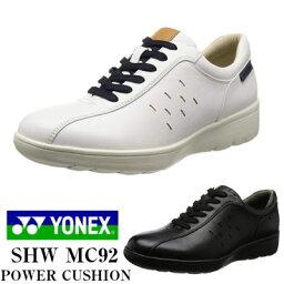 ヨネックス ヨネックス ウォーキングシューズ メンズ パワークッション 天然皮革 YONEX MC92 ホワイト 紳士 3.5E 靴