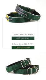 痛くない首輪 ワンタッチバックル 名前 名入れ 刺繍迷子札Aston Basic 25mm幅 犬の体重=24kgまで  大型犬 首輪