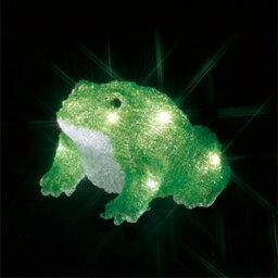 カエルギターランプ ジェフコム:LEDクリスタルモチーフ(電池式) カエル(大) 型式:STM-F20-MA