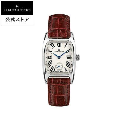 ハミルトン 公式 腕時計 Hamilton Boulton アメリカンクラシック ボルトン レディース レザー | 正規品 時計 革ベルト レッド クォーツ レディース腕時計 ブランド腕時計 ビジネス レディースウォッチ 女性腕時計 おしゃれ 女性 watch シンプル ウオッチ 女性用腕時計