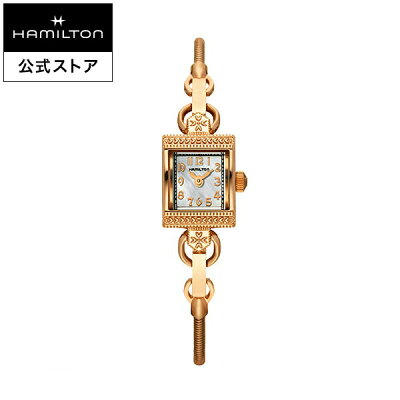 Hamilton ハミルトン 公式 腕時計 Lady Vintage アメリカンクラシック レディハミルトン ヴィンテージ レディース メタル | 正規品 時計 ブランド ブレスレットウォッチ クォーツ ウォッチ ピンクゴールド 女性 watch クオーツ プレゼント 女性用腕時計 マザーオブパール