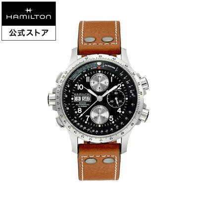 abdbc563f3e2 Hamilton ハミルトン 公式 腕時計 Khaki X-Wind カーキ アビエーション X-ウィンド メンズ レザー H77616533