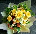 ミックス 誕生日 卒業 送別 開店祝い 送料無料 おまかせ 黄色オレンジ系 花束 誕生日 卒業 送別 開店祝いギフト お祝い 花ギフト 結婚記念日 (誕生日 などにも) お祝い 2