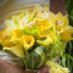 蘭(ラン) ホワイトデー 誕生日 にも 送料無料 おまかせ!黄色オレンジ系ブーケ 花束 ホワイトデー 誕生日 にもギフト お祝い 花ギフト 結婚記念日 (ホワイトデー 誕生日 などにも) お祝い 67