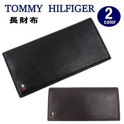 トミーヒルフィガー 長財布 メンズ TOMMY HILFIGER 長財布 31TL19X008 トミーヒルフィガー OXFORD オックスフォード モチーフデザインプレート 二つ折 レザー メンズ トミー ブランド ag-932900