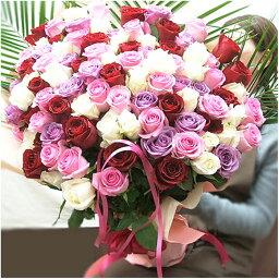 100本 バラ 100本 バラ 花束 バラ108本 誕生日プレゼント女性 100本のバラ プロポーズの花 薔薇の花束
