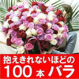 100本 誕生日プレゼント/バラ100本/女性/花/薔薇100本の花束/プレゼント/送料無料/プロポーズ バラ 花束108本バラ はお選び下さい