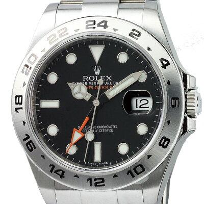ロレックス ROLEX エクスプローラー2 メンズ 腕時計 ブラック 216570