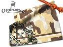 オロビアンコ *[48]:オロビアンコ ハンカチ メンズ 綿100% 迷彩カモフラ柄 ブラウン系 日本製 52cm やわらか肌触り プチスカーフ バンダナ■
