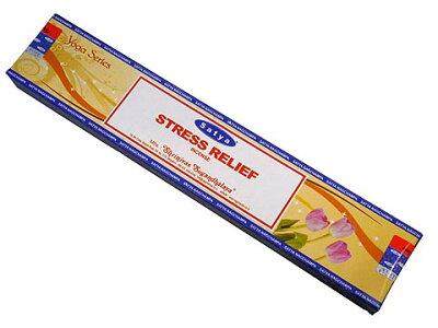 お香 ヨガシリーズ-ストレスリリーフ香スティック マサラタイプ/SATYA STRESS RELIEF/インセンス/インド香/アジアン雑貨(ポスト投函配送選択可能です/6箱毎に送料1通分が掛かります)