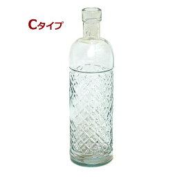 お香立て リサイクルガラスのボトル型吊り下げ式お香たて!Cタイプ 1個1個すべて手作りのガラスインセンスホルダー/インド香やネパール香のお香立てに!