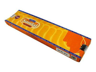 お香 スーパーサンダル香 スティック /SATYA SUPER SANDAL/インセンス/インド香/アジアン雑貨(ポスト投函配送選択可能です/3箱毎に送料1通分が掛かります)