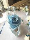 ディズニープリザーブドフラワー ディズニーランドのシンデレラ城☆ガラスの靴☆もちろんガラス製です☆リングピロープリザーブドフラワー☆バラの色変更できます