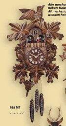 鳩時計 鳩時計 壁掛け時計 ハト時計 はと時計 ポッポ時計 一日巻き鳩時計739MT おもり式 高さ:約50cm