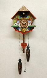 鳩時計 鳩時計 壁掛け時計 ハト時計 はと時計 ポッポ時計 クォーツ式 森の時計 チロリアン山小屋 415QM