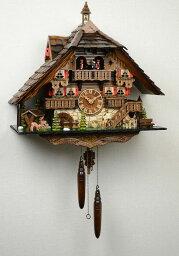 鳩時計 鳩時計 壁掛け時計 ハト時計 はと時計 ポッポ時計クォーツ式 大型クォーツ式からくり鳩時計 木こりのお仕事 489QMT