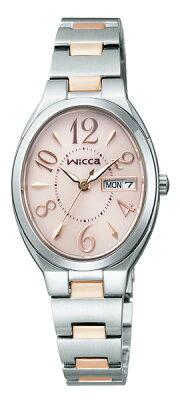 クーポン利用で2000円off シチズン ウィッカ ソーラーテック wicca レディース ソーラー 腕時計 KH3-118-93