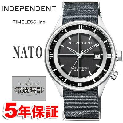 ポイントUPキャンペーン中 ソーラー電波時計 インディペンデント シチズン ミリタリー NATOバンド INDEPENDENT CITIZEN インデペンデント メンズ 腕時計 KL8-643-50