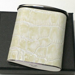 タスカ 携帯灰皿 おしゃれ タスカ ホワイト レザー クロコ型押し 日本製 PEARL 牛本革 白 国産 ブランド かわいい プレゼント かっこいい 屋外 ギフト