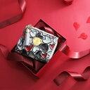 アタオ 財布 【ATAO】デザイナーの手描きハートから幸せがあふれだす主役級ミニウォレット waltz happy vitro quatre(ワルツ ハッピーヴィトロ キャトル) アタオ エナメルレザー 三つ折り財布 355-1133