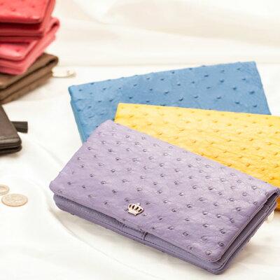 【傳濱野】ちょっと贅沢なスマホ財布 Ryufka ostrich(リュフカオーストリッチ)レディース 長財布 オーストリッチ