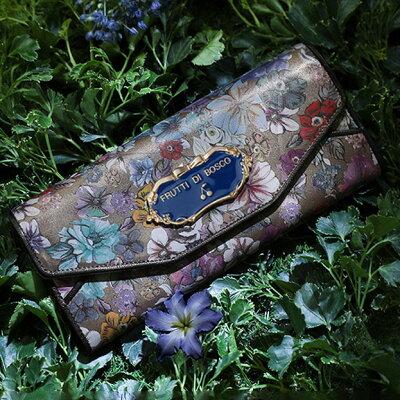 【FRUTTI】花たちにも秘密がある。ミステリアスなウォレットSalu Fior(サルー フィオール) FRUTTI DI BOSCO フルッティ ディ ボスコ