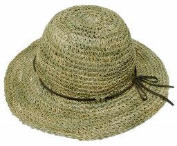 ニューヨークハット 帽子 レディース ニューヨークハット (NEWYORKHAT) レディース ストローハット #7117 SEA GRASS FRAMER, Natural[ ストローハット 麦わら 帽子 NEW YORK HAT レディース ツバ広 紫外線カット 紫外線対策 ]